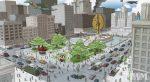 La zone centrale de City of Titans : Au coeur de la Phoenix Plaza