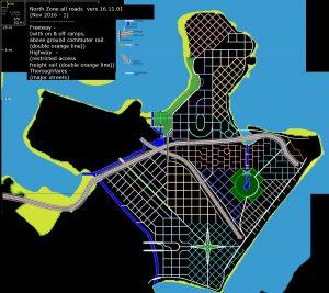 Partie nord du monde de City of titans