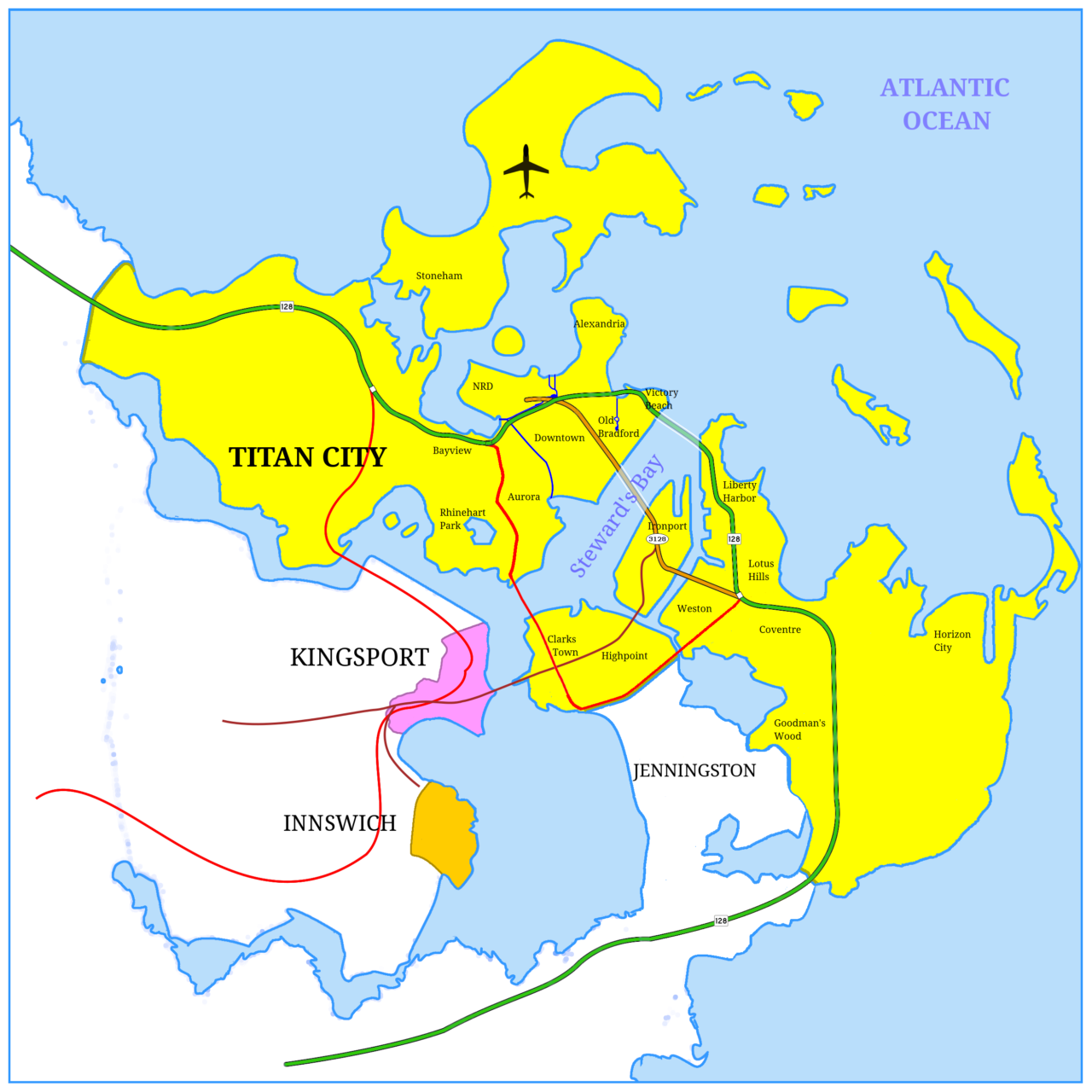 Carte du monde de City of titans