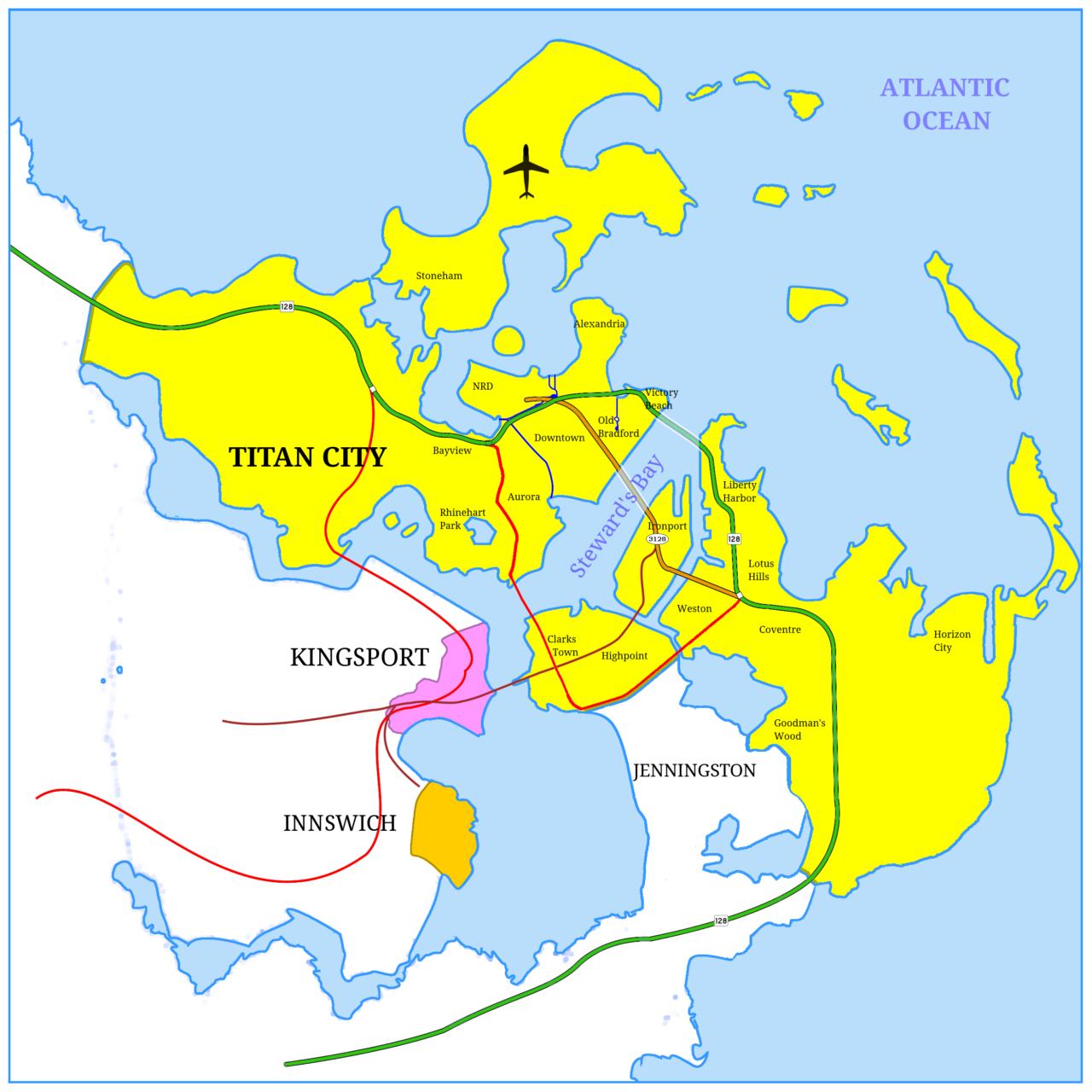 Carte du monde de City of titans