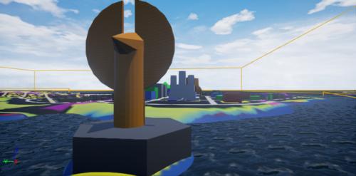 le constructeur de City of titans : première modélisation en couleur