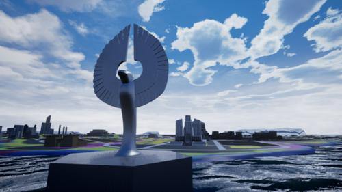 le constructeur de City of titans : la 1ière modélisation en couleur terminée