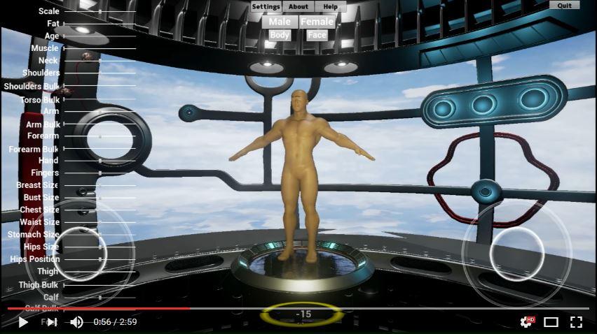 ecran de creation de perso dans City of titans