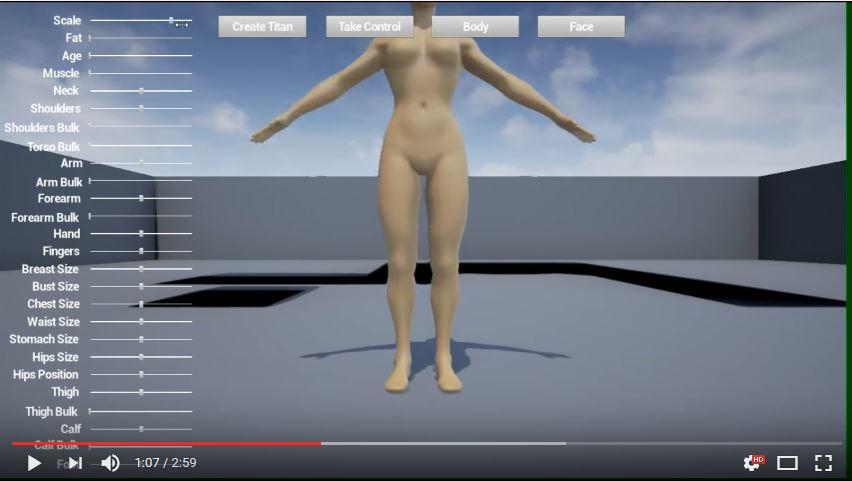prototype de perso géant dans city of titans