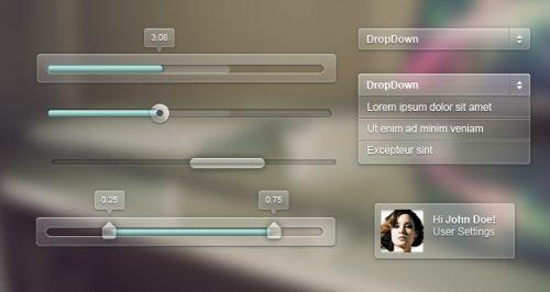 Interface transparente fumée