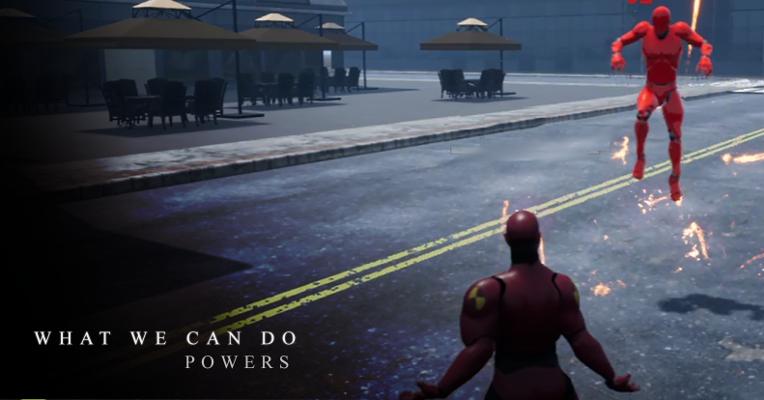 le developpement des pouvoirs dans City of titans