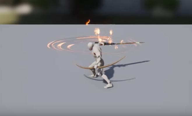 animation pouvoir épée feu city of titans