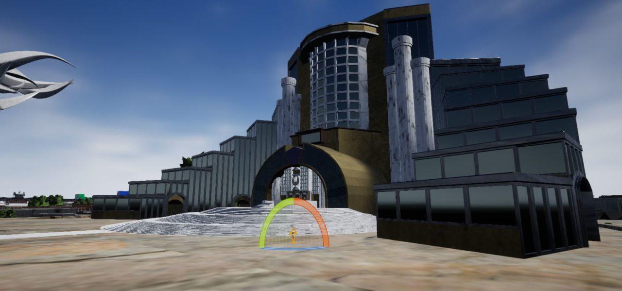 la façade de la phoenix plaza de city of titans
