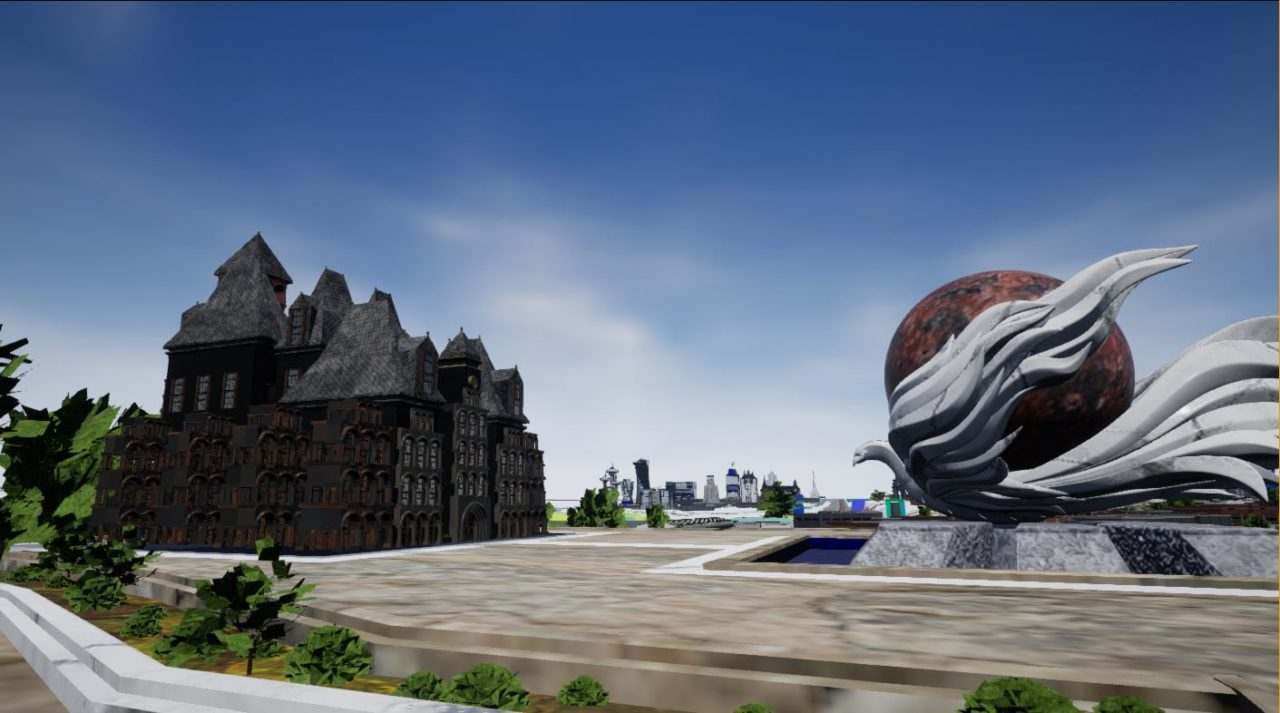 La statut du phoenix en mémoire du passé sur la phoenix plaza