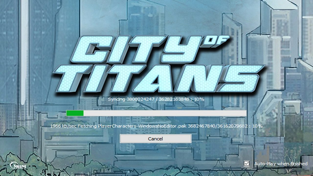 captuire d'écran du launcher de city of titans
