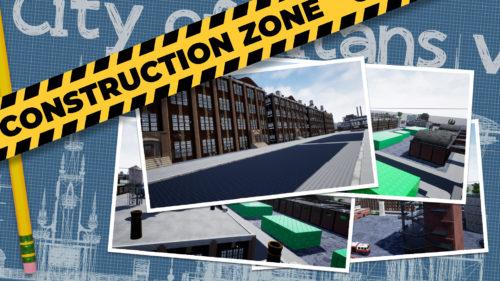 bannière de présentation de la construction des zones de city of titans