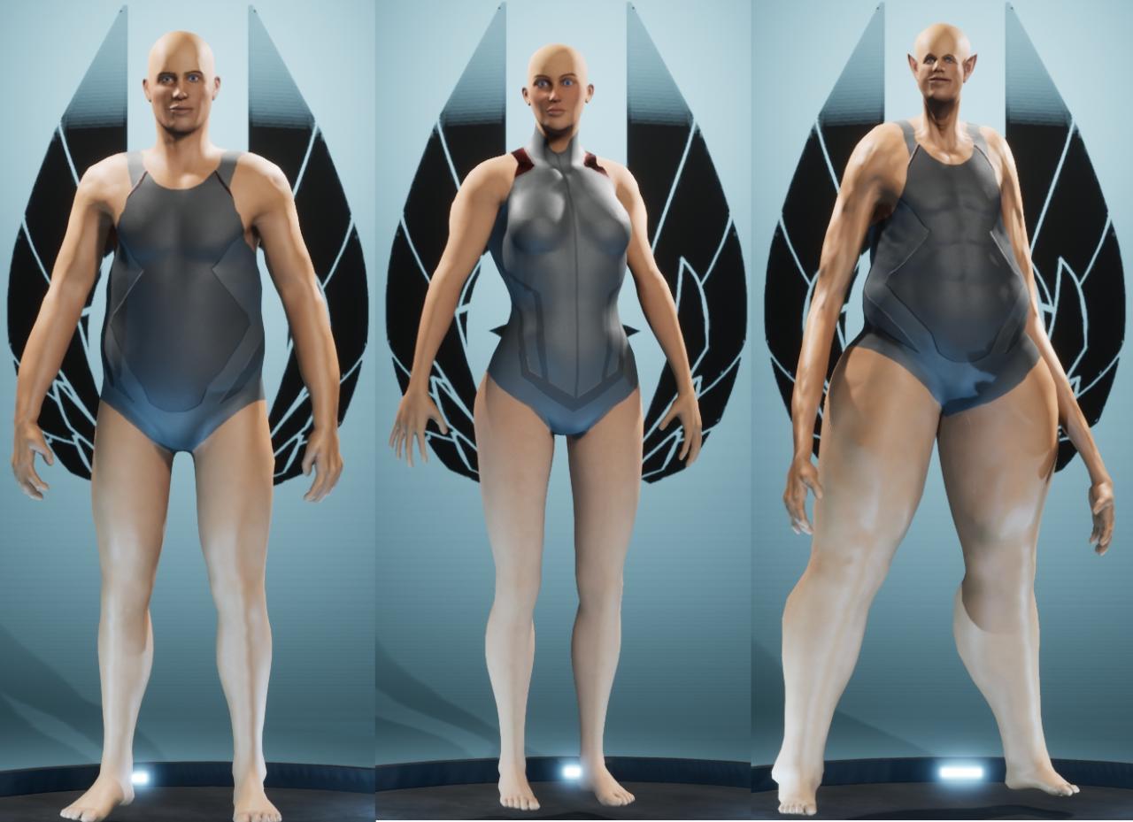 Exemples de proportions atypiques possibles dans city of titans