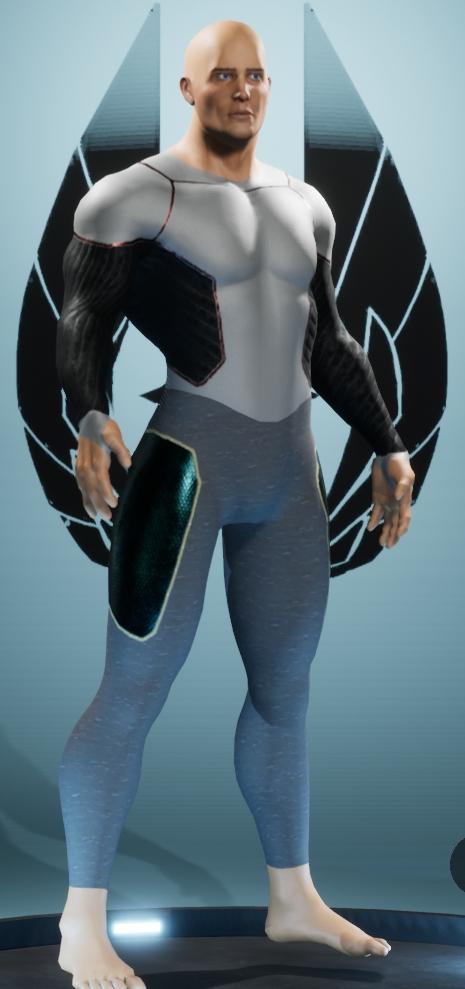 exemple de costume en collant ou spandex, classique