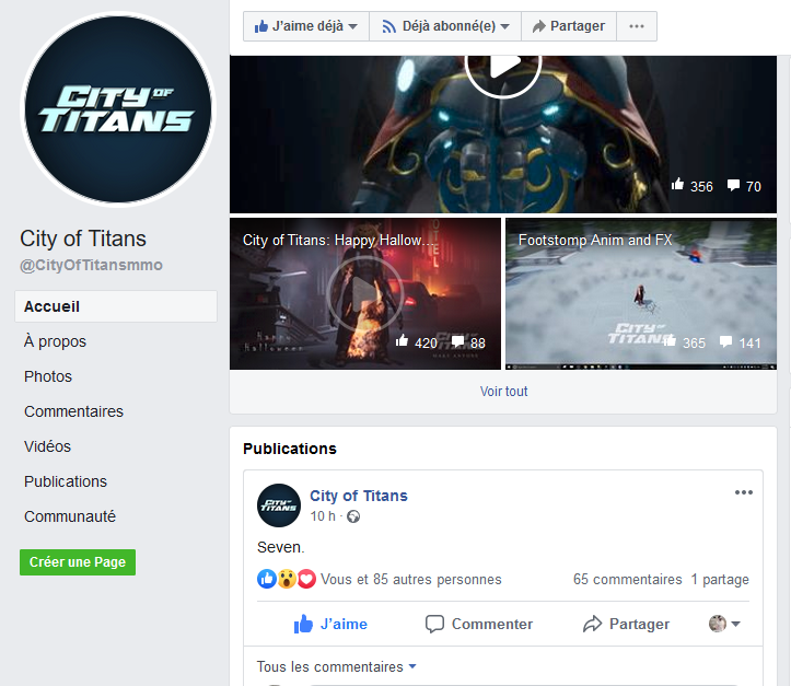 décompte facebook city of titans