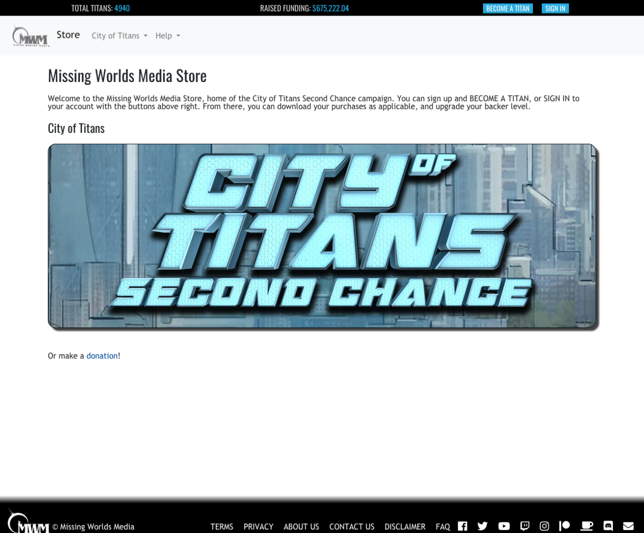 news-city-of-titans-Second-Chance-webstore home