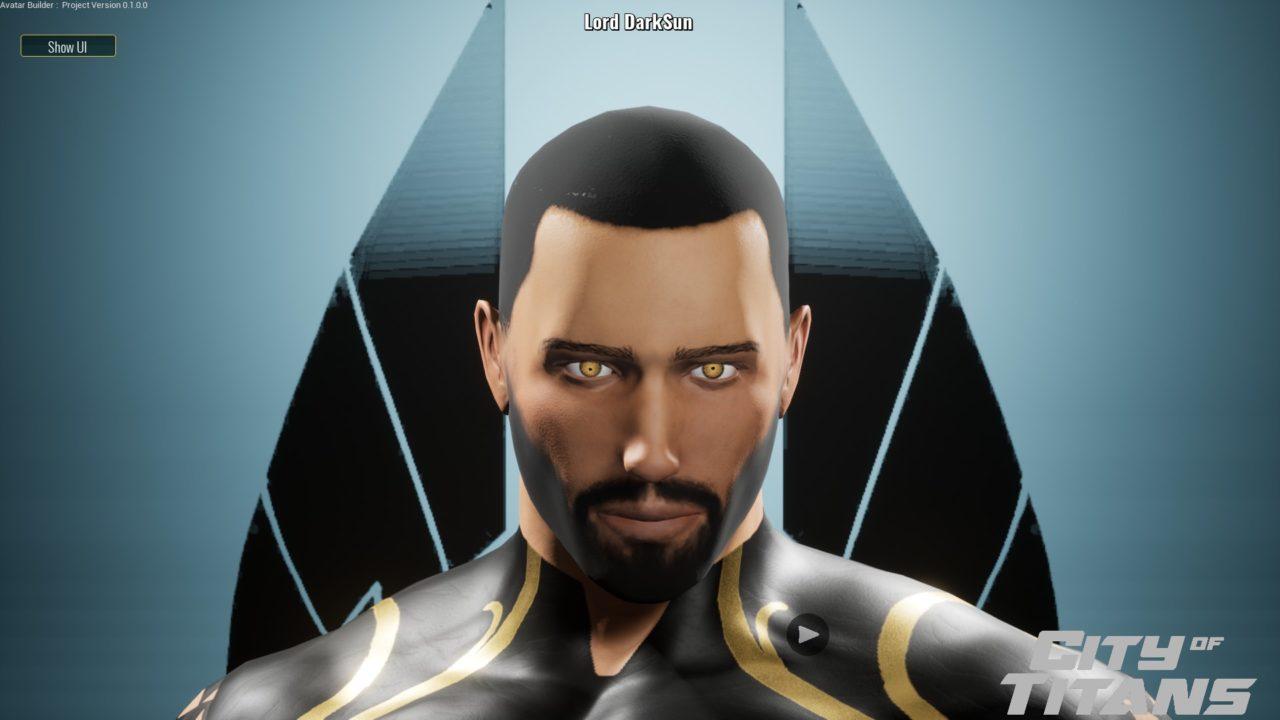 exemple de visage créée dans le créateur de personnage de city of titans