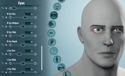 Nouveaux curseurs de réglage du globe oculaire