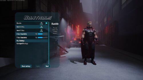 paramètres de contrôle de la manette city of titans