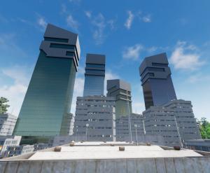gratte-ciels city of titans centre ville downtown