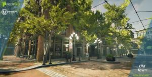 Style graphique de ville city of titans