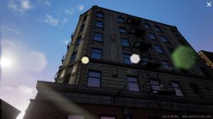 Environnement purepolygons de ville abandonnée